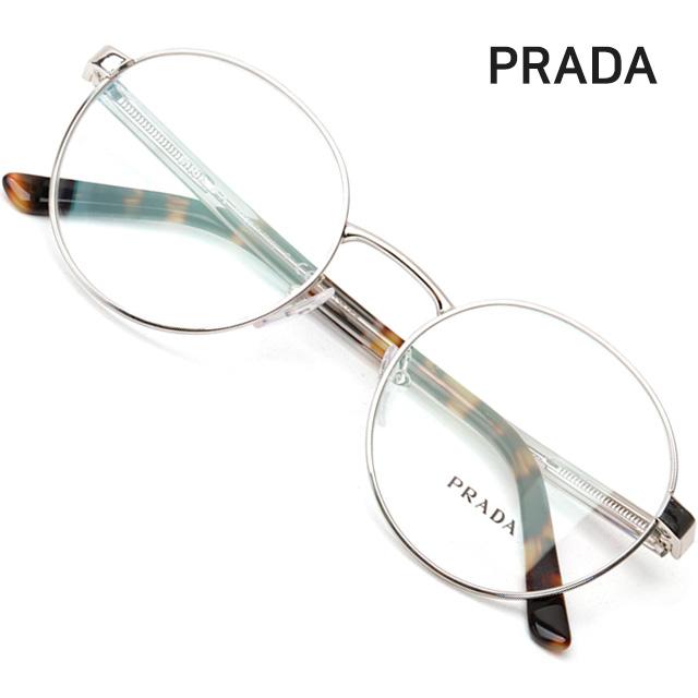 프라다 명품 안경테 VPR52X-1BC1O1 동그란 메탈테