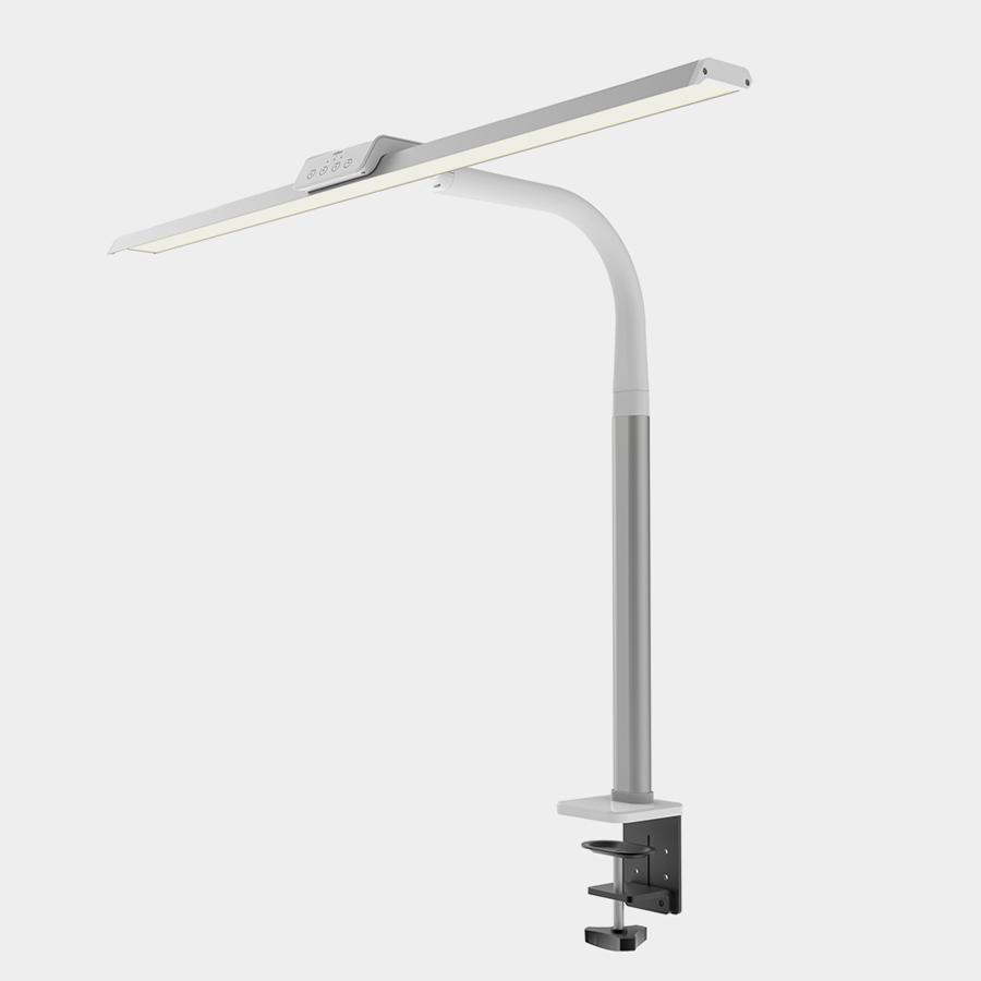 프리즘 LED 스탠드 LSP-9000 클램프타입 탁상 공부 책상 조명 전등 인테리어등, 클램프 화이트