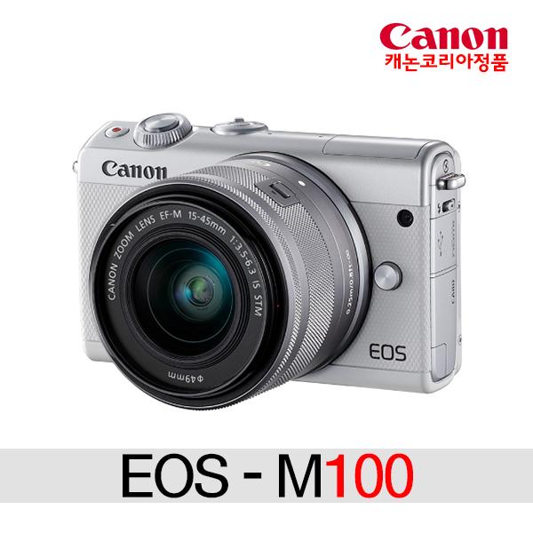 캐논 EOS M100+15-45mm KIT 미러리스카메라, M100+15-45 KIT(화이트)+2번패키지