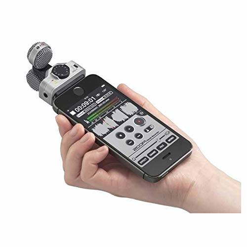 Zoom iQ7 Stereo Mid-Side Microphone for iPhone/iPad Rotatable/164024, 상세내용참조