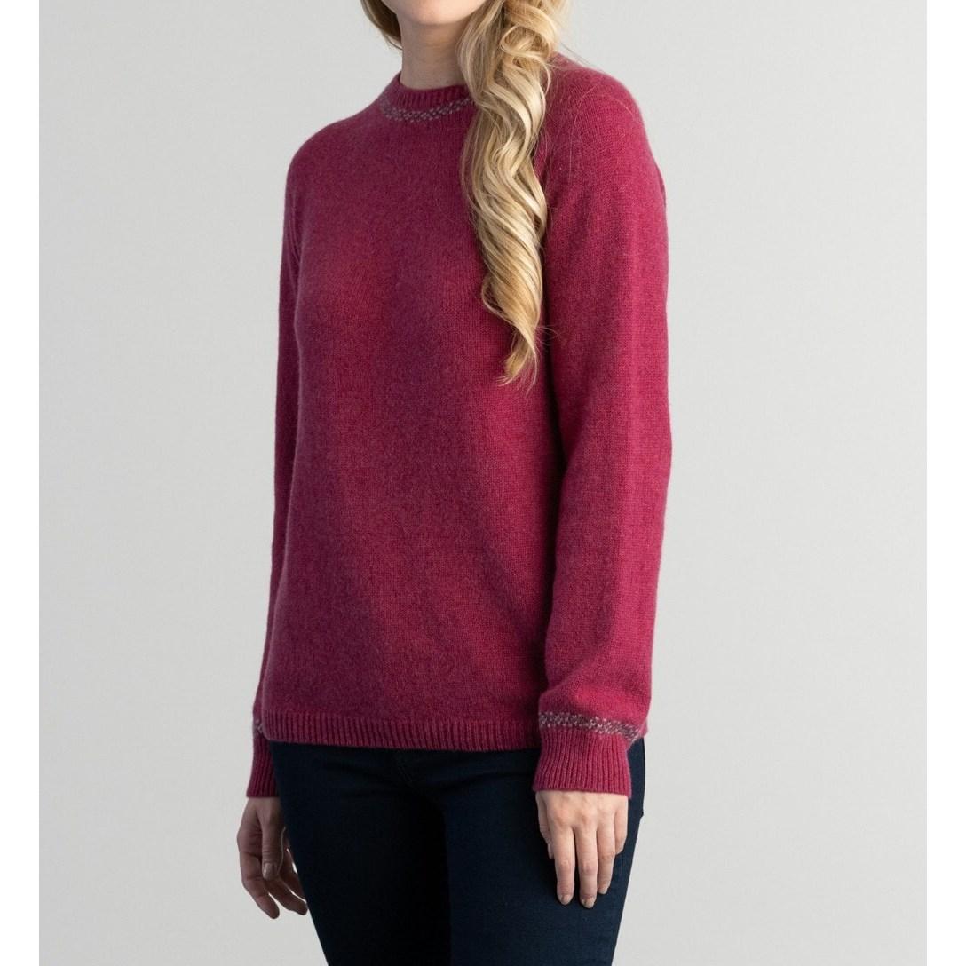 할리 오브 스코틀랜드 HARLEY OF SCOTLAND 여성 크루넥 여자 스웨터 니트 우먼