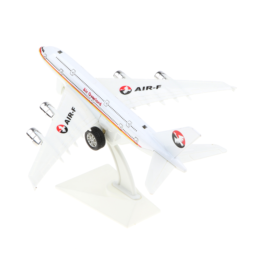 QDY 에어 버스 A380 비행기 장난감 아이 뒤로 비행기 모델 장난감 홈 테이블 장식 장식