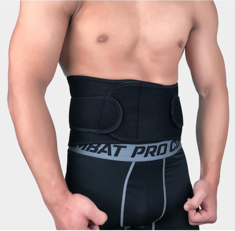 허리 지원 벨트 트리머 GYM 기차 보호대 농구 체중 감소 스포츠 근육 압축, Black, S (POP 4799979554)