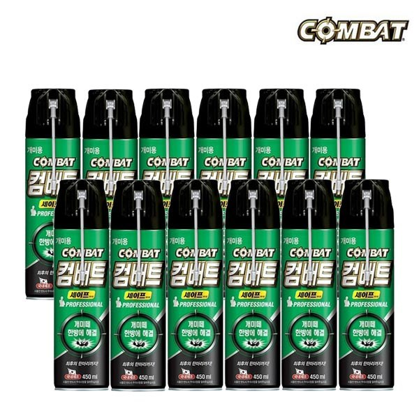 컴배트 세이프 개미에어졸 450ml, 12개