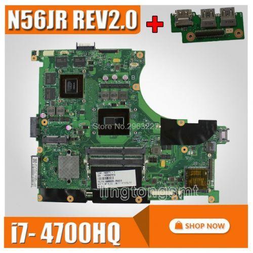 [해외] SEND BOARD + N56JR MOTHERBOARD I7 47 GTX760M 한 ASUS N56J N56JR G56J G56JR LAPTOP MOTHERBOARD N5, 중국