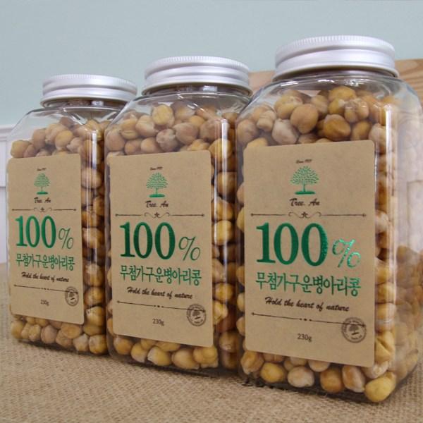 [트리안] 100%무첨가_구운병아리콩_230g, 1병, 230g