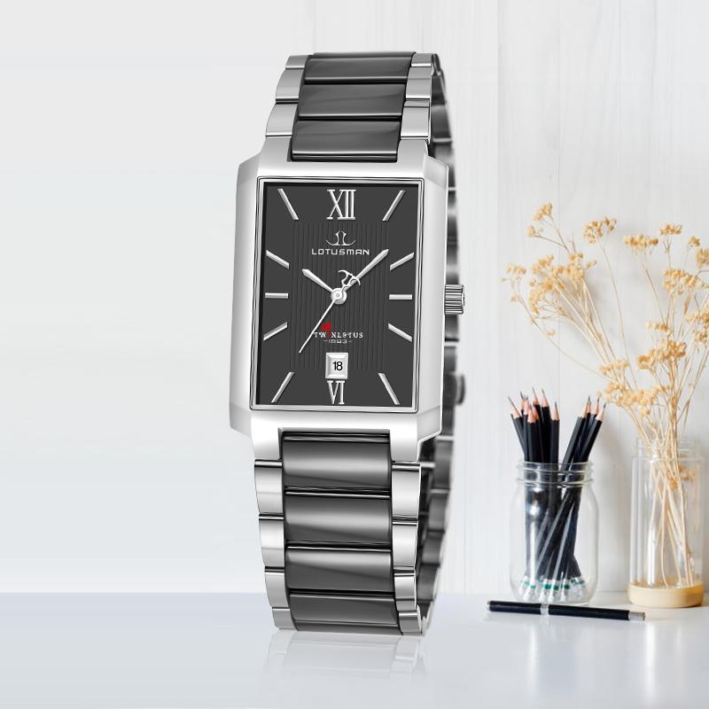 커플시계 프랑스 남성 손목시계 사각형