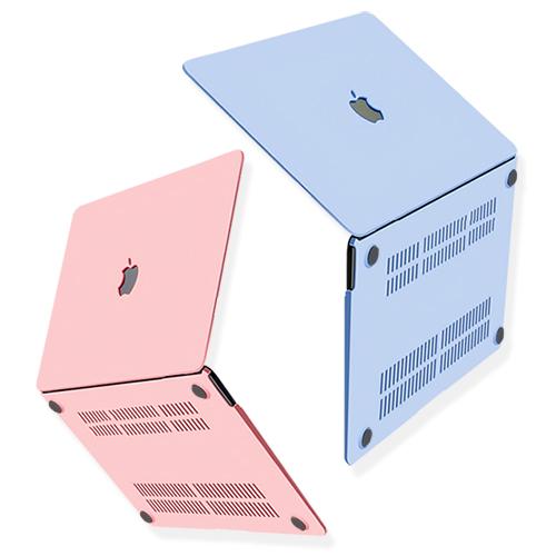 [트루커버] 감각적인 파스텔 컬러 맥북프로 터치바 16인치 전용 로고컷 케이스, 파스텔맥북로고컷케이스-블루(MBPSC.01)