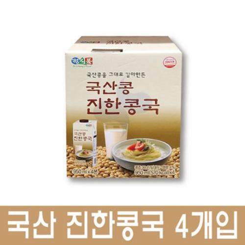 정식품 검은콩 진한 콩국, 4개입