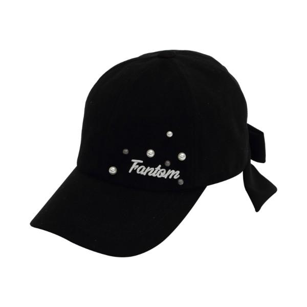 팬텀 골프 여성 로고 진주 포인트 골프캡 22193CP652 모자, BK
