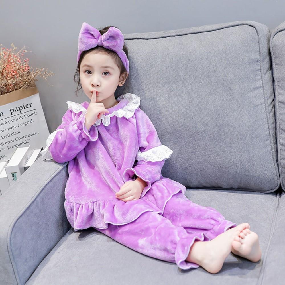 어린이 극세사 공주 프린세스 수면 잠옷