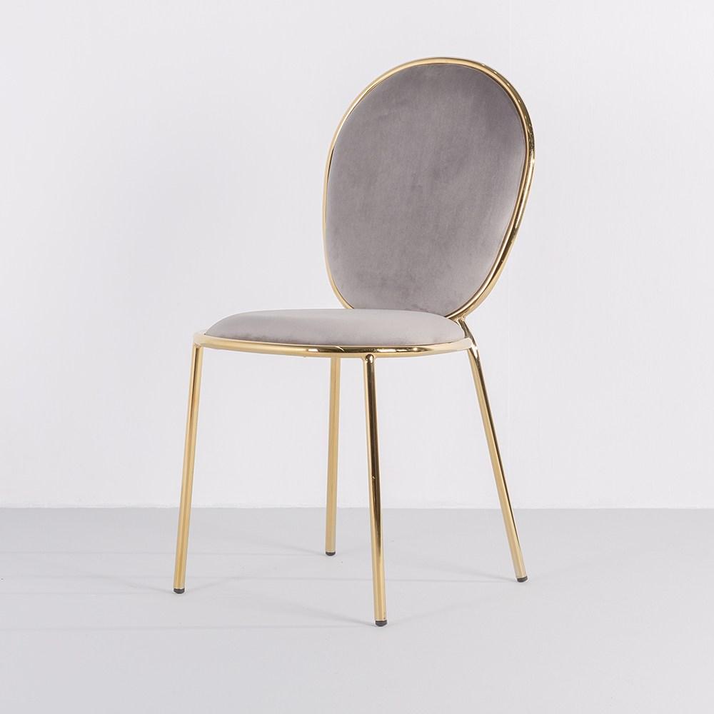 [가구느낌] 어반골드체어 디자인의자 식탁 카페 벨벳, 03_어반골드체어-그레이