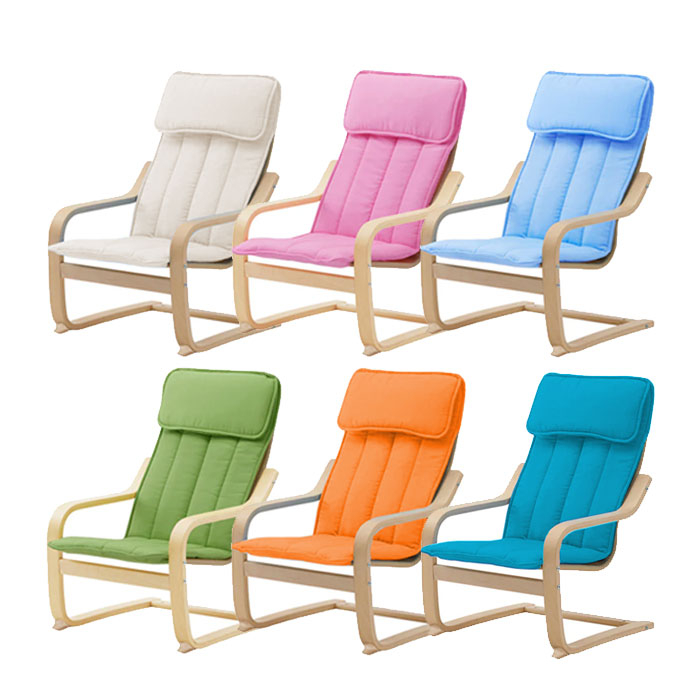 [비카] 어린이 암체어/이케아/POANG/안락의자, 색상:터쿼이즈