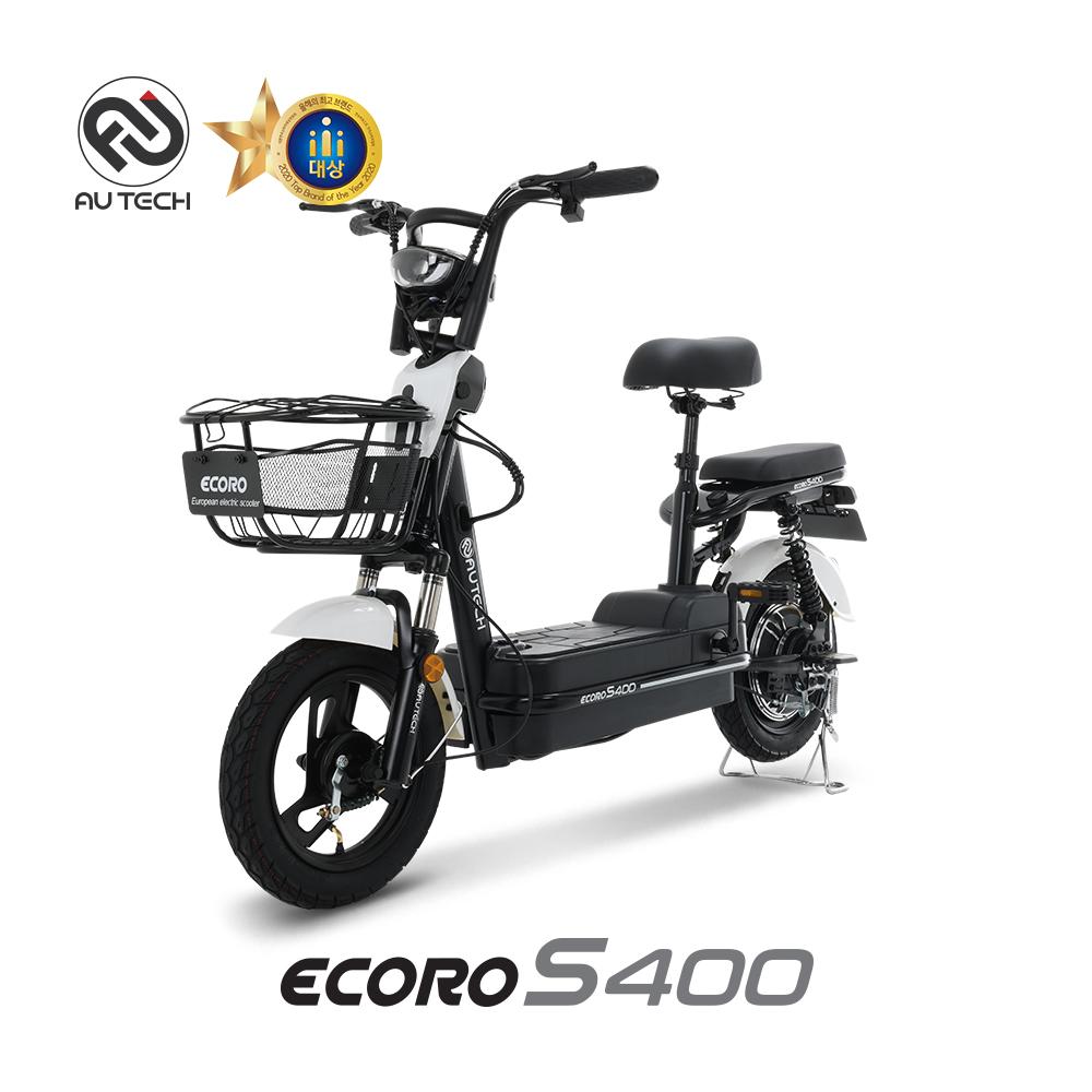 AU테크 에코로 S400 48V 18Ah 2인용 전동스쿠터, 에코로 S400 18A 화이트