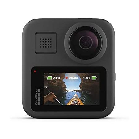 [아마존베스트]GoPro MAX Waterproof 360 + Traditional Camera with Touch Screen Spherical 5.6K30 HD V, Base_One Size