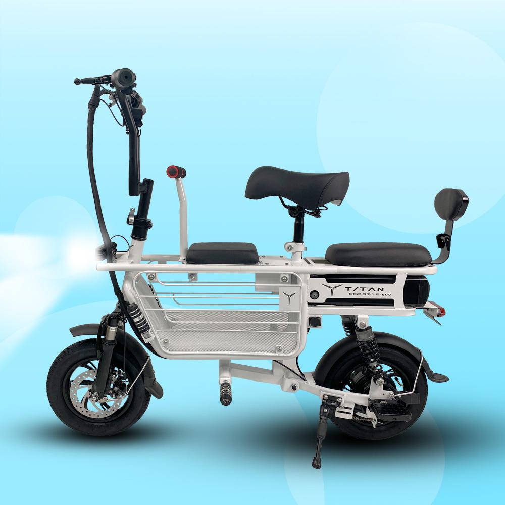 전동스쿠터 3인용 전기자전거 강아지 애견 에코드라이브 타이탄 스쿠터600, 배터리13AH(페달X)