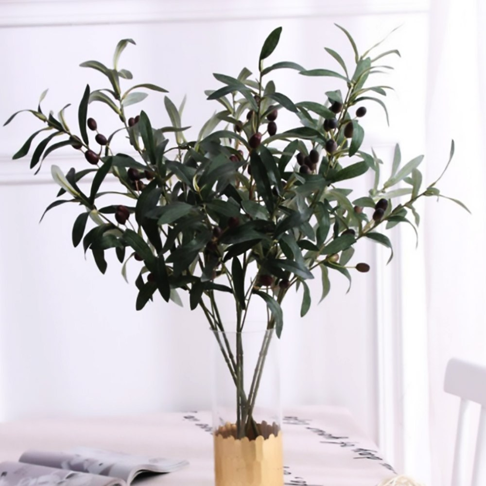메리미플라워 올리브나무 열매가지 대형 조화 96CM