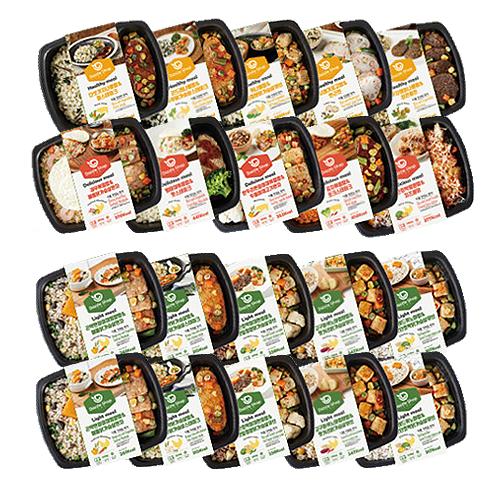 다즐샵 식단관리 도시락 4주 식단 15종 20팩 (건강한10팩+맛있는5팩+가벼운5팩), 1개