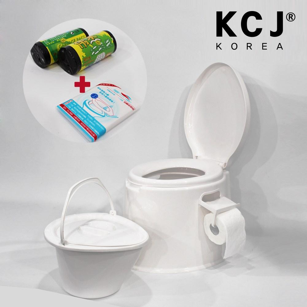 (주)KCJ 이동식좌변기-화이트, 1개