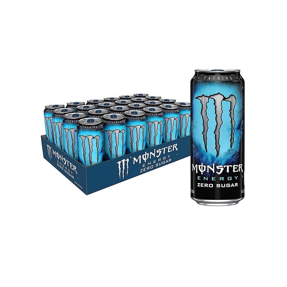 몬스터 Monster Zero Sugar Low Calorie Energy Drink 무설탕 저칼로리 에너지 드링크 16oz(473ml) 24팩, 1개, 1ml