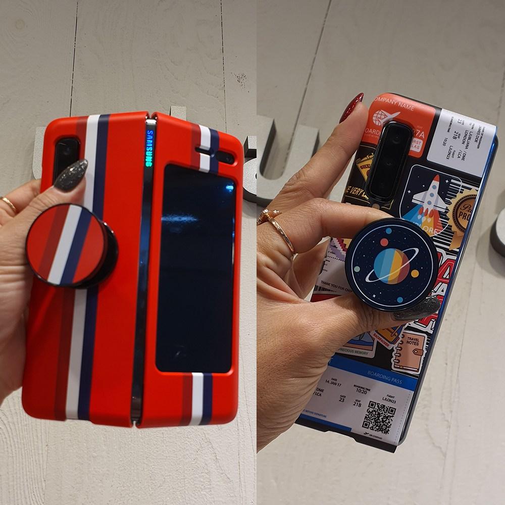 디아이 갤럭시 디자인케이스 폴드1 삼성 폴더블 폰케이스+그립톡세트 휴대폰 케이스