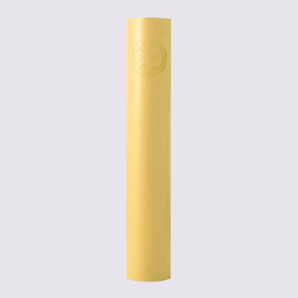 Lululemon 룰루레몬 요가 매트 고무 미끄럼 방지 전문 남성 및 여성 피트니스 매트 양면 lululemon 요가 매트 5mm 휴대용 촉감좋은 부드러운 냄새없는, 노랑