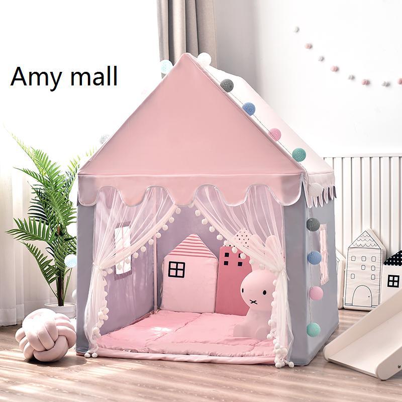 애미몰 어린이 공주 놀이텐트 놀이궁전 집 하우스, 핑크