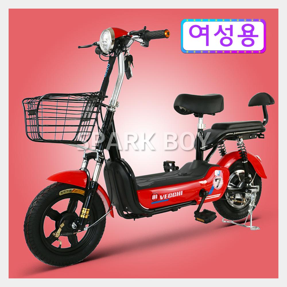 전기 자전거 2020 최신형 GX가성비 갑 여성용 2인용 전기자전거 48V 350W 전동스쿠터 납산 리튬배터리 전동 스쿠터, 레드