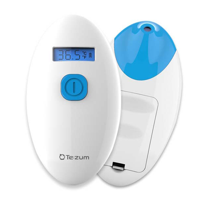Tezum 의약외품 국산 피부 비접촉 적외선 약국 체온계 비대면 신생아 손목 이마 열감지기 체온체크기, 1개