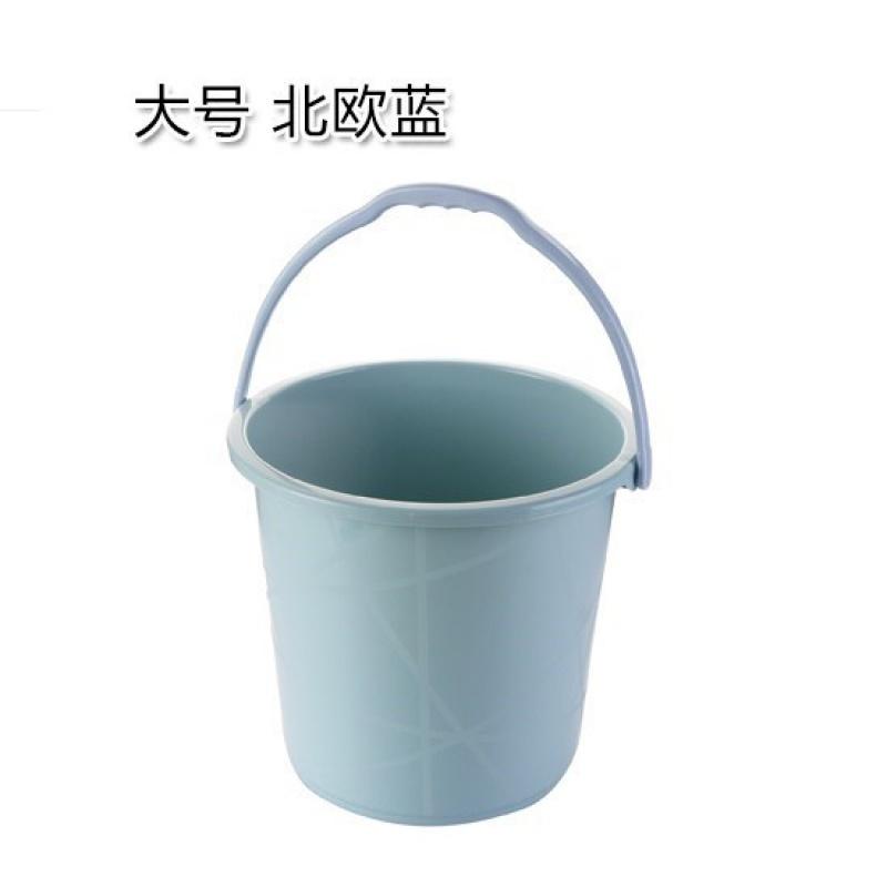 가정용 세차 라지 통 물통 저장 포터블 두꺼워 플라스틱 드럼통 숙성제, 라지 노르딕 블루