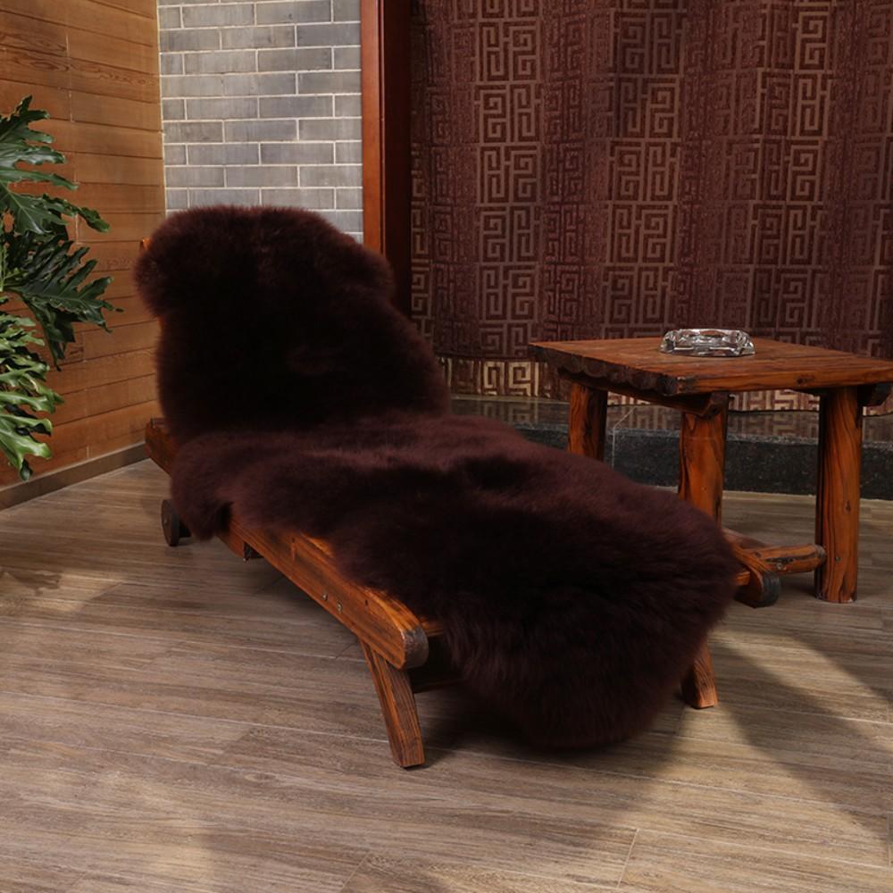 안마의자 리클라이너 울 커버 러그 카펫 시트 담요 쿠션 고급 인테리어, 커피색 (POP 5295627795)