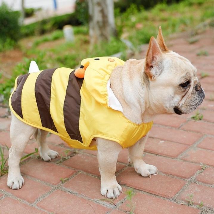 도도하우스 꿀벌 레인코트 강아지우비 M~9XL 중형견 대형견 잉글리쉬불독옷 프렌치불독 비옷