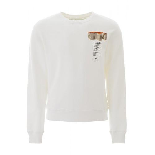오프 화이트 [루플랫] 남성 상의 Off-white building 프린트 티셔츠 OMBA025R20E30007 0188