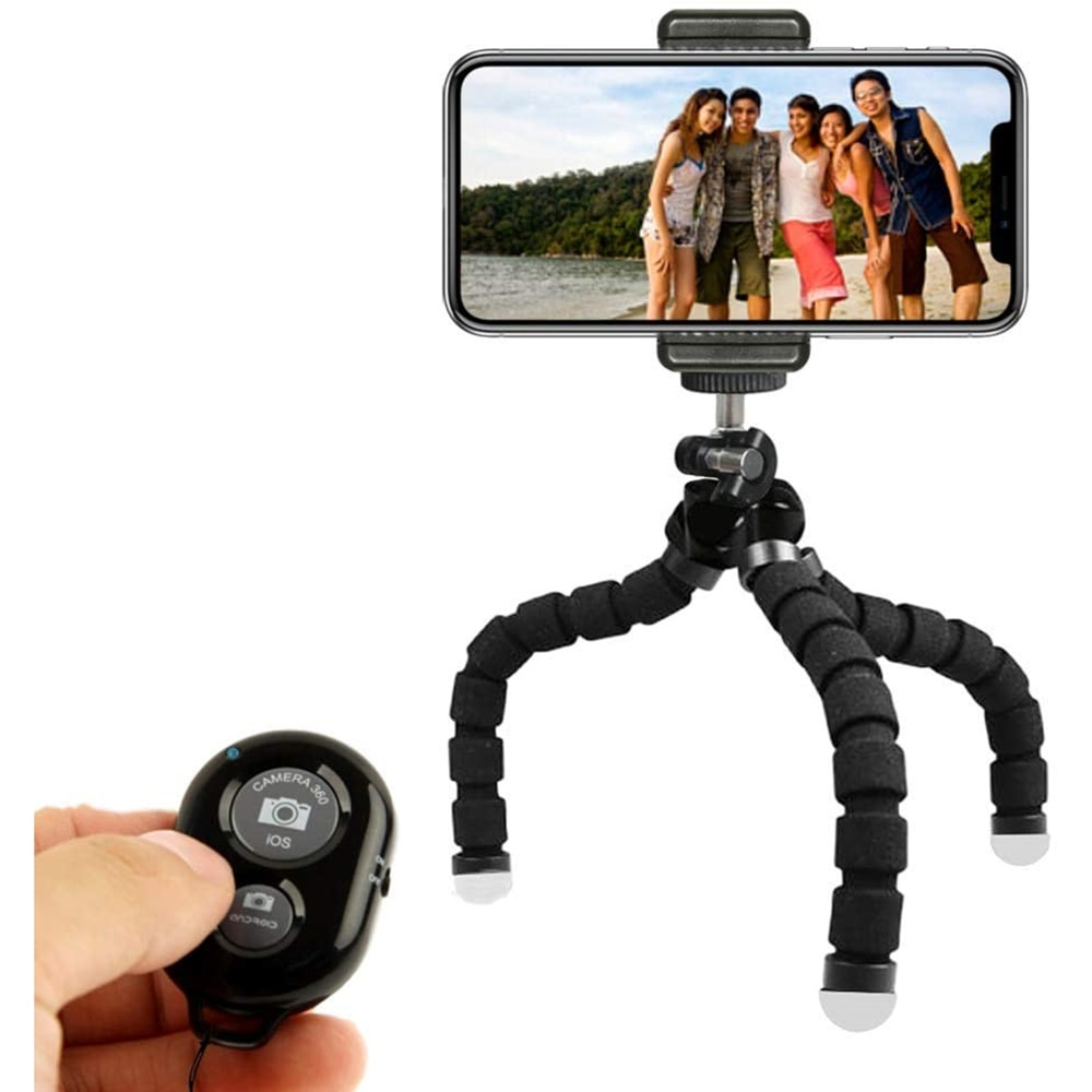 KobraTech 휴대폰 삼각대-TriFlex 미니 삼각대-유연한 삼각대 iPhone 및 Android + Bluetooth 리모컨