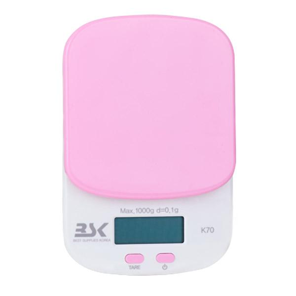 올댓세일 가정용 주방 전자저울 K70, 핑크