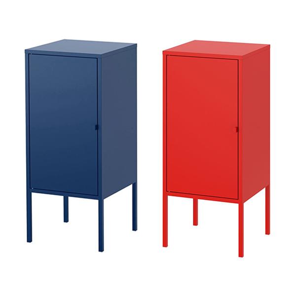 IKEA 이케아 철제 캐비닛 수납장 35x60cm LIXHULT 릭스훌트 203.996.64, 메탈/레드