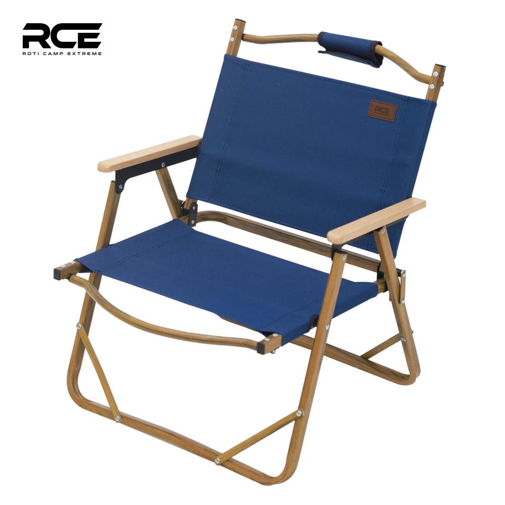 로티캠프 RCE 에코 로우체어 캠핑 의자 우드무늬, 로우체어우드무늬_네이비
