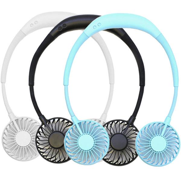 넥밴드 휴대용선풍기 목걸이형 X-8 2020년 신상품 4가지색상, 블랙