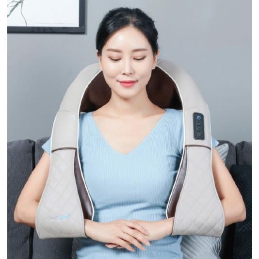 휴플러스 무선 목어깨 안마기 업그레드된 더블텐션 3강약 속도조절 목어깨 마시지기, CORDZERO-750 1EA