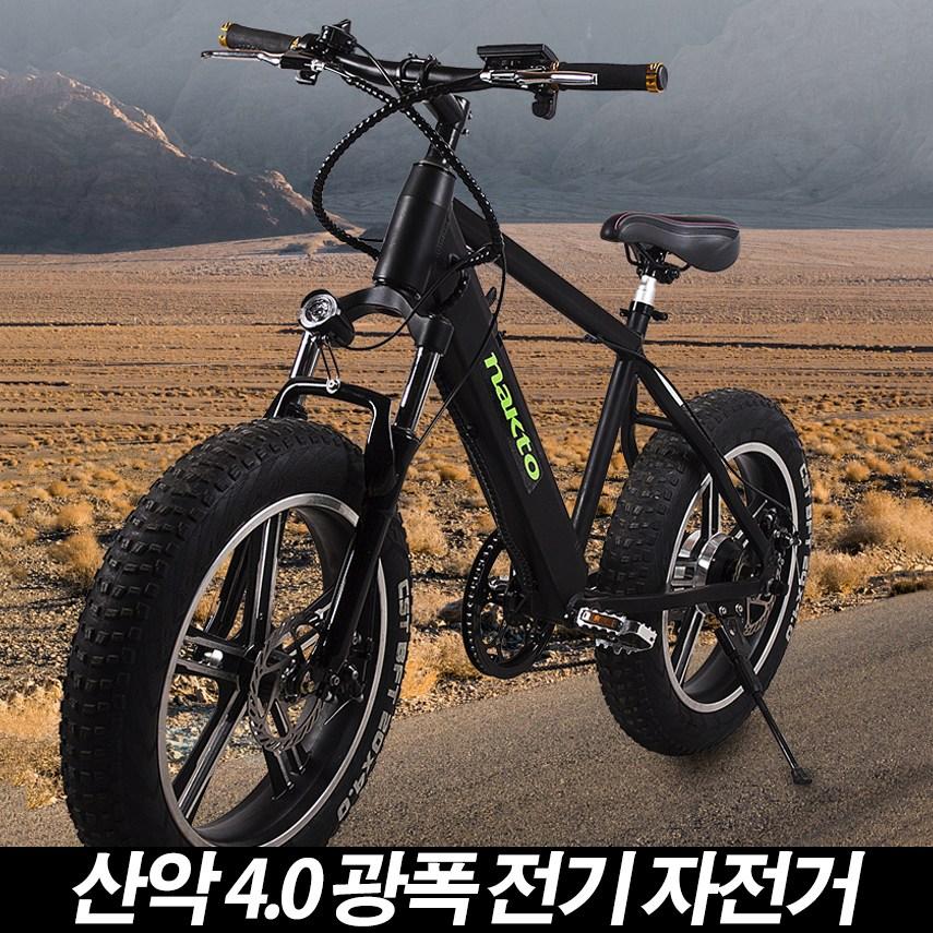NAKTO 93 전기펫바이크 탈착식 리튬배터리 전기자전거, 48V-화이트
