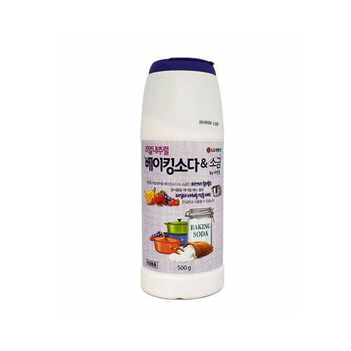 [LG생활건강] 리얼내추럴 베이킹소다&소금 만능 주방세제 500g, 3개