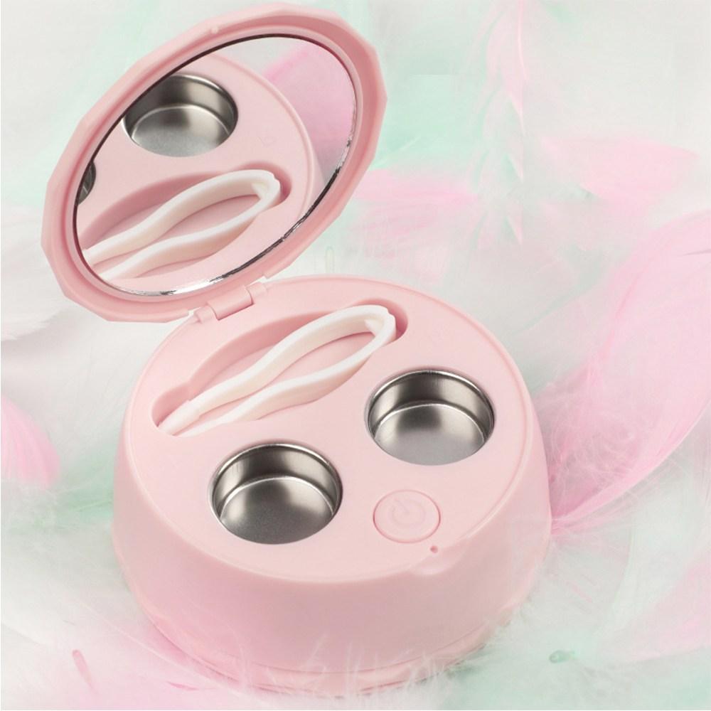 Ultrasonic 초음파 콘택트 렌즈 세척기 소프트렌즈세척기, 1개, 핑크