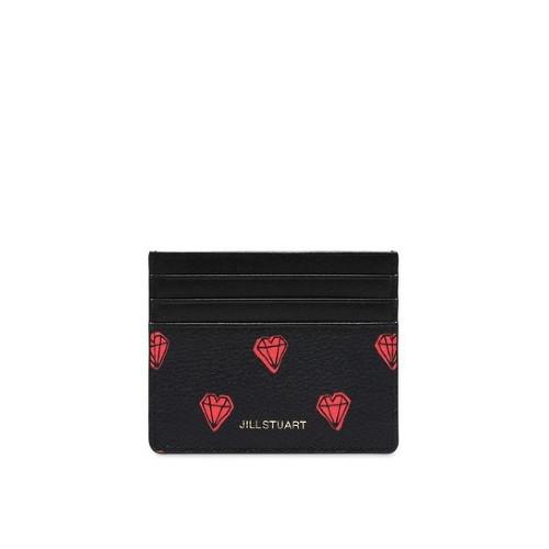 [질스튜어트ACC]JAHO0E270BK/블랙 쁘띠다이아몬드배색 가죽 카드홀더