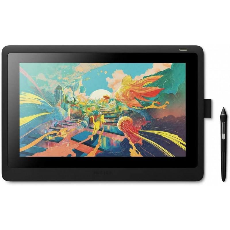 Wacom Cintiq 16 화면 스케치 일러스트레이션 및 그리기용 창의 펜 디스플레이 1920 x 1080 Full HD 디스플레이 바이브런트, 단일옵션, 단일옵션