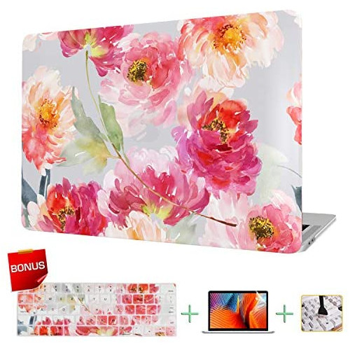 노트북 파우치 Laptop Case MacBook Case & Keyboard Cover & Screen Protector Sunflower Only Compatible for MacBook New Pro 13 inch(A2159/A1706/A1708/A198, Size = 13