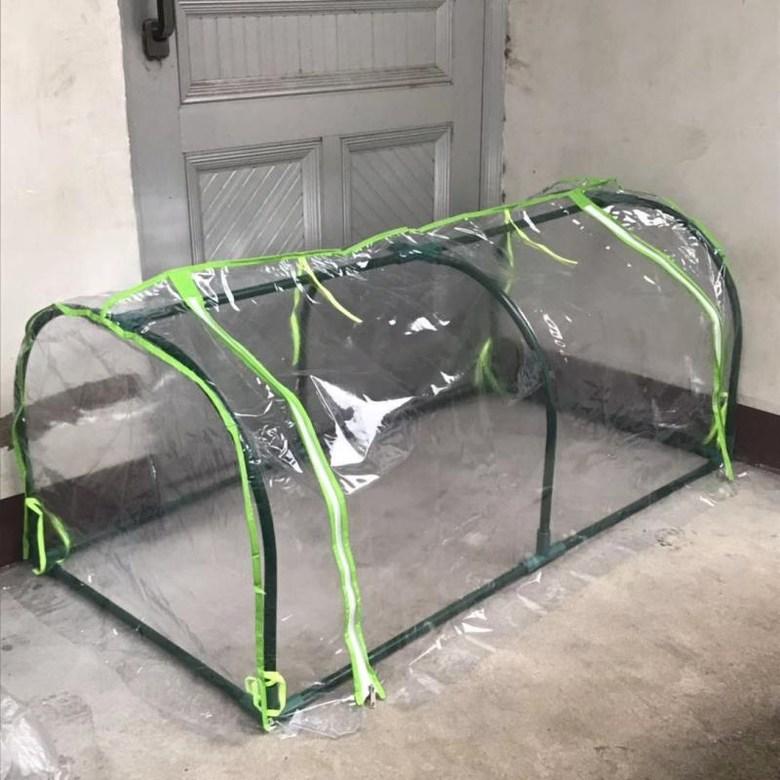 가정 조립식 소형비닐하우스 옥상 베란다 미니 온실, 이중  돔 투명 120x60x50cm