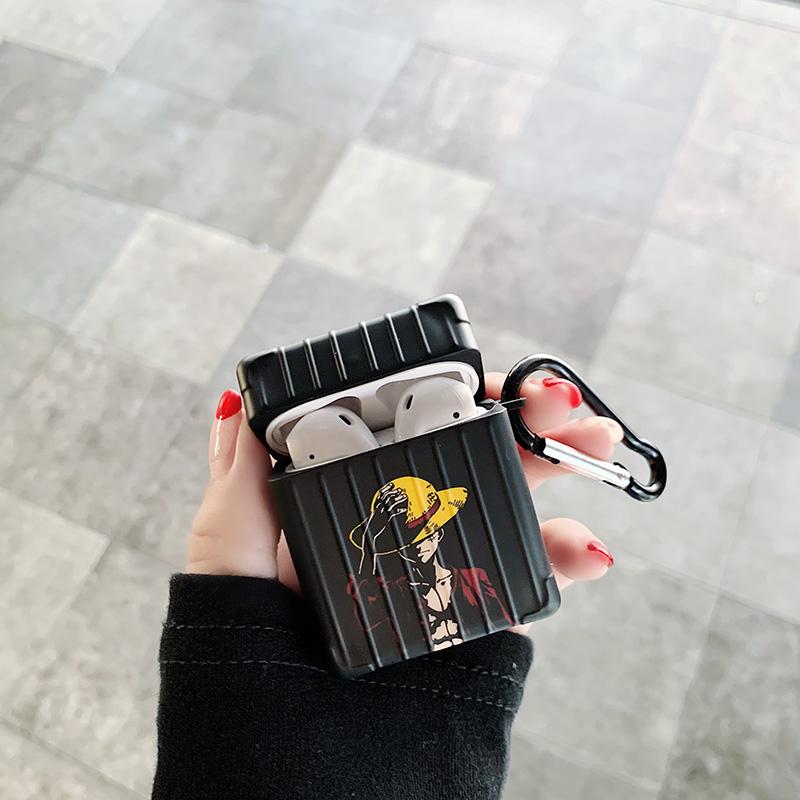 Airpods 루피 애플 에어팟 케이스, 블랙 1/2세대, 없음