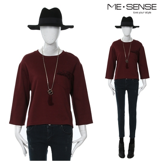 미센스 미센스 Y 여성 토션 티셔츠-M5YTSM260Z_L7O1