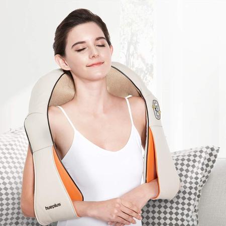 Hueplus HPM-100 지압 목 및 어깨 마사지기-3D 긴장 기술 통증 완화 트리트먼트 홈 오피스 딥 니딩 수딩 P, 상세 설명 참조0