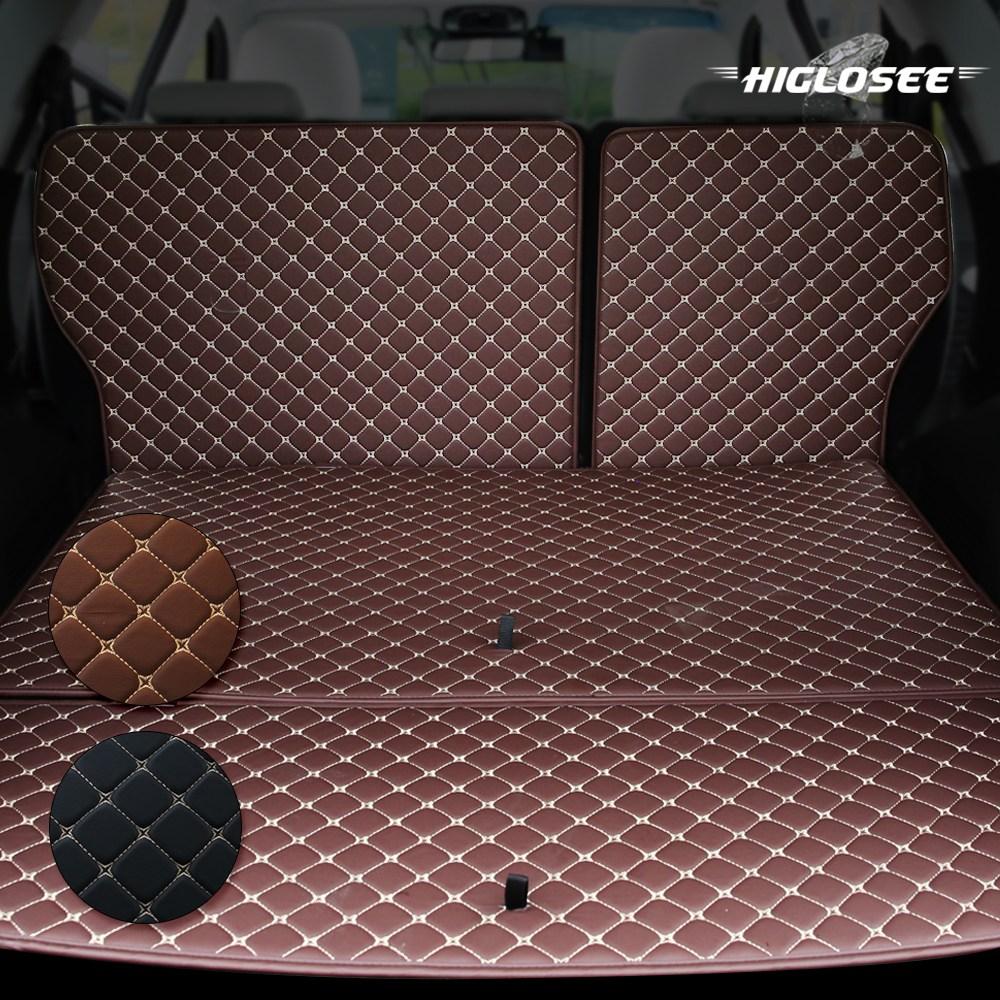 하이글로씨 다이아몬드 트렁크매트 가죽 차박 승용 SUV 전차종 평탄화 캠핑, 르노삼성 QM3, 트렁크바닥만